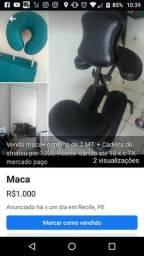 Maca + espelho+ cadeira estética comprar usado  Recife