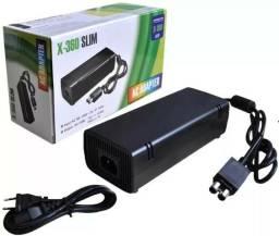 Fonte Xbox 360 Bivolt 110v 220v 135w Cabo De Força 2 Pinos