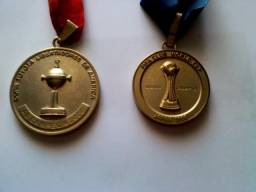 2 medalhas do Internacional - Inter - Libertadores e Mundial