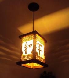 Luminaria Rústica Oriental