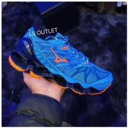 Tênis MIZUNO PROPHECY 7 Azul/laranja só $99 reais