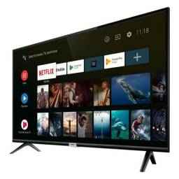 Smart TV LED 43'' TCL 43S6500 Android TV com Bluetooth Google Assistant Wi-Fi 2 HDMI 1 USB