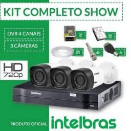 Kit 4 Câmeras Intelbras Instalado