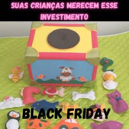 Caixa musical em eva, brinquedo educativo, black friday