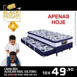 Colchão box Black com cama auxiliar - R$ 499,00
