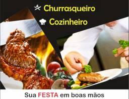 CHURRASQUEIRO E COZINHEIRO PARA FESTAS