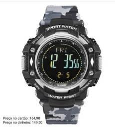 Relógio masculino original Weide camuflado pedometro