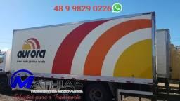 Carroceria frigorifica 6.50mts usada bau truck Mathias implementos