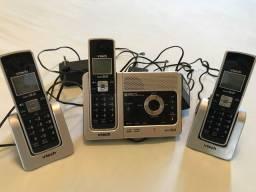 Telefone sem fio VTech 6.0 com dois ramais.