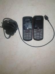 2 Celular Samsung GT-E1086 com 1 Carregador Aceito Picpay Entrego
