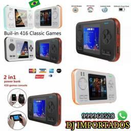 Bateria portátil com vídeo game com 400 jogos apenas RS 175.00