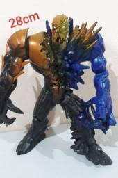 Boneco Mega Extroyer coleção Max Steel de 2008 articulado