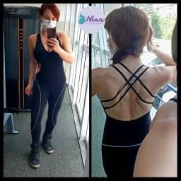 Macacão fitness academia treinar pilates moda fitness