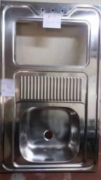 Pia nova 1metro x 60 com uma entrada para fogao 2 bocas sem válvula somente venda