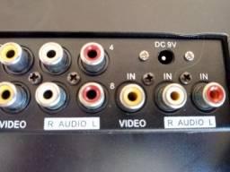 Distribuidor Rca Audio Video Composto 1x8 Splitter Estereo