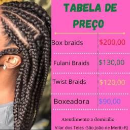 tranças box braids $200
