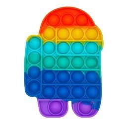 Título do anúncio: 9 peças Pop It Fidget Toy Colorido Among us, Verde e Laranja. Sensação do TikTok Youtube