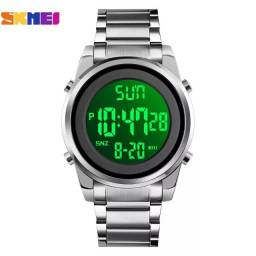 Título do anúncio: Relógio Skmei Prata Digital Esportivo Tamanho médio em Aço Inoxidável