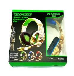 Título do anúncio: HeadSet Gamer TecDrive PX-1 Camo P2 + ajuste
