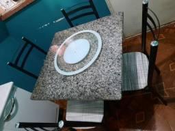 Título do anúncio: Mesa de Mármore com 4 cadeiras NOVO