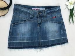 Saia Jeans Opção Barra Desfiada Tamanho 38