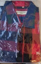 Camisa Manga Longa 100 algodão quadriculada importada Sao João G