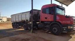 Título do anúncio: Conj Scania T124 420 6x2 Ano 2001 E Sr Randon Caçamba 2011.