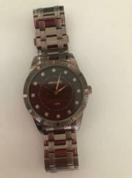 Relógio seculus feminino marrom