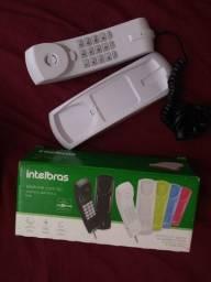 Telefone sem Fio e telefone com fio novo