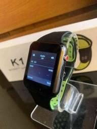 Título do anúncio: Parcele Sem Juros Relógio Smartwatch K1 Bluetooth e entrada para chip Promocao