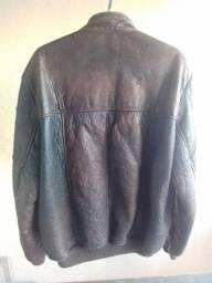 Jaqueta Luxo 100% Pele e Couro Revestida Por Dentro Lã Ovelhas