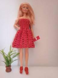 Roupinha Barbie vestido tomara que caia