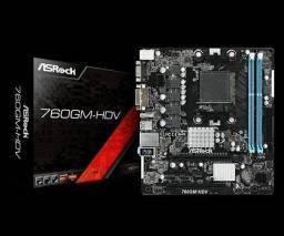 Placa Mãe Asrock LGA AM3+, 760GM-HDV AMD, SLOT DDR3, , novo, original