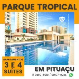 Título do anúncio: Apartamentos em Patamares com 3 suítes em 115m², 2 vagas, vista mar