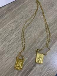 Escapulário ouro 18k - 10 gramas - 70cm