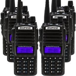 Rádio Comunicador Baofeng Walk Talk Lote 6 Uv-82 Dual Band Rádio Fm<br>