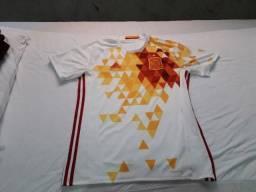 Camisa Espanha 17-2018 Edição figuras Geométricas