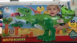 Título do anúncio: Dinossauro de montar com 30 blocos somente 180 reais a unidade