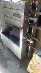 Máquina de assar frango e chapa de lanche