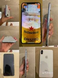 Título do anúncio: iPhone XS Max prateado 64Gb