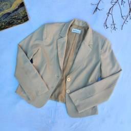 blazer paletó bege