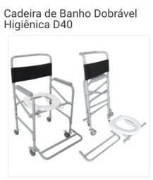 Cadeira de banho e muletas