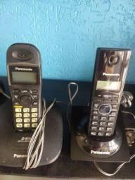 Título do anúncio: 2 telefones sem fio Panasonic