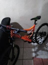 Título do anúncio: Bike aro 26 quadro de mola peça da Shimano