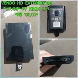 Vendo hd externo original 500gb xbox 360