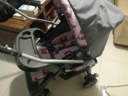 Carrinho de Bebê Passeio Burigotto com Bebê Conforto