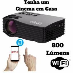 Mini Projetor Portatil Espelhamento Com Celular Wifi Uc36+