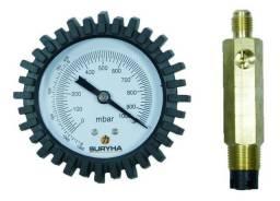 Vacuômetro Analógico + Adaptador Para Bomba Vácuo Surhya