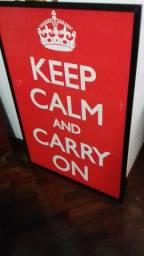 Quadro Keep Calm And Carry On comprar usado  São Paulo