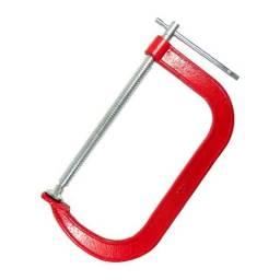 Grampo Para Marceneiro Vermelho Tipo C 8 Pol- 200mm
